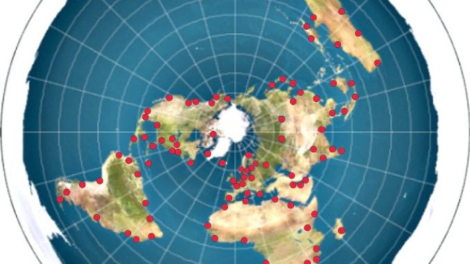 Littean Maan Kartta Jossa 100 Kaupunkia Tietopisteesta Loytyy