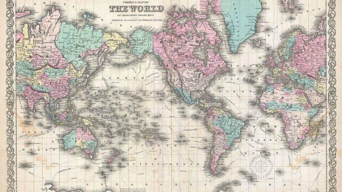 vanha maailmankartta