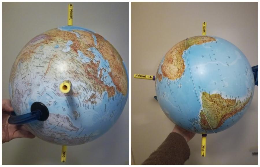 Osittainen kuunpimennys 7.8.2017 geosentrismissa.